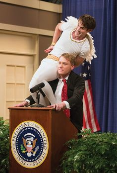 The shoulder angel! Gotta love Studio C. Click to read about all the great shows BYUtv has to offer.