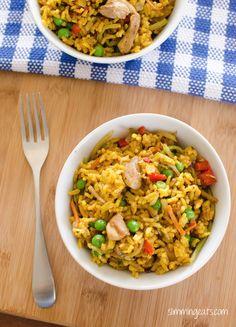 Slimming World Coconut Chicken Curry Rice - gluten free, dairy free, vegetarian, Slimming World and Weight Watchers friendly