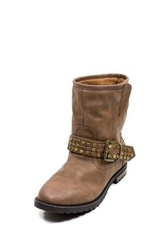 STUDDED FLAT ANKLE BOOTS