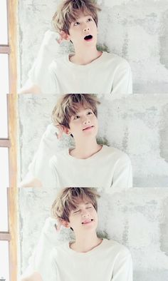 EXO's Baekhyun.he is so kawaii. Stop trying to act so innocent Baekhyun. Kpop Exo, Exo Bts, Bts And Exo, Chanbaek, Baekyeol, K Pop, Chanyeol Baekhyun, Park Chanyeol, Baekhyun Facts