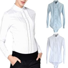 f1f63f4807d3 Sexy Lace Work Office School Formal Fitted Bodysuit Blouse Shirts Bodysuit  Blouse, Shirt Blouses,