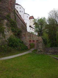 Veste Oberhaus, Passau Sidewalk, Germany, Bucket, Mansions, House Styles, Travel, Jacket, Passau, House Of Lords