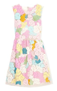 Lace A-Line Dress by Valentino Now Available on Moda Operandi