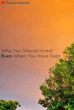 Investing when you have debt can be done in retirement accounts like 401(k)s and IRAs, where your money is protected from bankruptcy. via @collegeinvestor