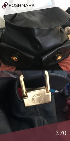 Marc Jacobs bag Authentic Marc Jacobs Bag, used black leather with gold, inside needs to be cleaned. MAKE AN OFFER Price is negotiable Marc By Marc Jacobs Bags Hobos