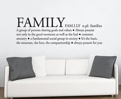 Quote wall decal - Family Definition - Wall Decals , Home WallArt Decals