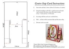 Fancy Fold Cards, Folded Cards, Center Step Cards, Stepper Cards, Shaped Cards, Card Tutorials, Card Templates, Birthday Cards, Christmas Cards