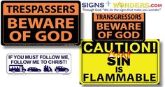 A Christian sign company thinks it can convert atheists.