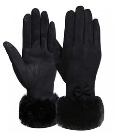 New Kpop Black Pink Women Cute Fleece Gloves Feamle Winter Thick Soft Warmer Mittens Gloves Winter Women's Gloves