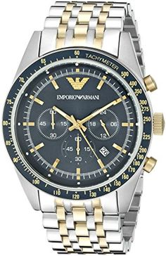 Emporio Armani Mens AR6088 Sport Two Tone Watch     Continue to the product  at b8ca907ce4