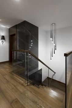 Staircase Railings, Staircase Design, Stairs, Kitchen Conversion, Hallway Decorating, Modern House Design, Building A House, New Homes, Architecture
