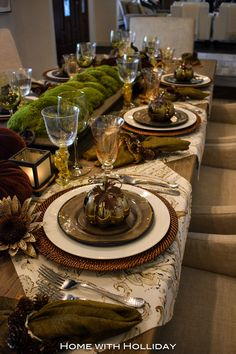 Fall~Thanksgiving Table Setting ~ 2017 - Home with Holliday