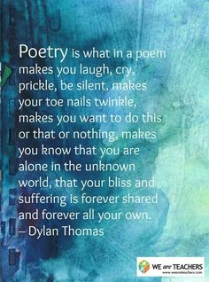 Dylan Thomas On Poetry