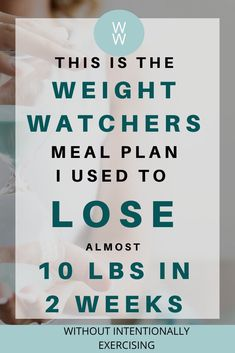Need to lose weight? Here are all the meals I ate and how I lost almost 10 pounds in 2 weeks on Weight Watchers Freestyle without ever being hungry. Plan Weight Watchers, Weigh Watchers, Weight Watchers Smart Points, Weight Watcher Dinners, Weight Loss Meals, Fast Weight Loss, Meals To Lose Weight, Losing Weight, Fat Fast