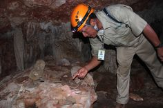 Check out those ancient Mayan pottery chards in St. Herman's Cave in Belize!
