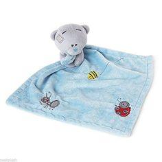 From 8.00 Blue Tiny Tatty Teddy Bear Baby Comforter