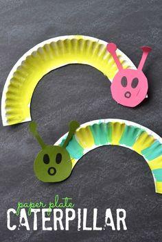 Paper Plate Caterpillars {Kid Craft}
