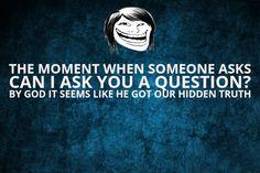 By god mind m apne saare kiye hue bure karm aane lagte h #funny #quote #question #truth #hidden #meme #lol #troll
