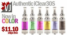 Innokin iClear30S Clearomizers in 7 Colors at Fasttech