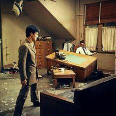 Bruce Lee after busting up Marlowe's (James Garner) office