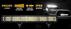 This LED Light Bar has even at a distance of 550 metres. Led Light Bars, Bar Lighting, Offroad, The Row, Off Road