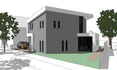 3D impressie villa modern energie neutraal