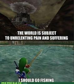 Video Games - video game logic - Page 7 - Video Game Memes - video game memes - Cheezburger this was so me xD and i would catch a huge fish too good times