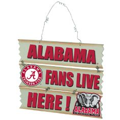 Alabama Hanging Fans Sign