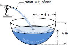 Calculator Technique for Solving Volume Flow Rate Problems in Calculus #Mathematics