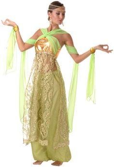 Deluxe Peridot Belly Dancer Costume
