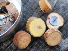 Rustic Wood push pins Perfect for Bulletin by TimberWoodsWares, $12.00
