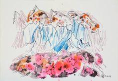"""Saatchi Art Artist Chloe Henderson; Drawing, """"From the series Rhythms in Rock"""" #art"""