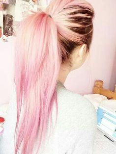 Brown to pink ombre