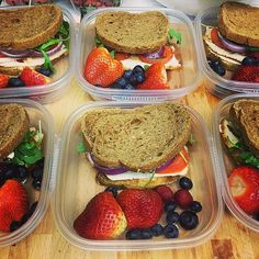 Chicken and Arugula Sandwiches With Fruit: You can get really inventive with a chicken sandwich recipe.