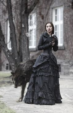 Victorian Gothic Lady and the Wolf
