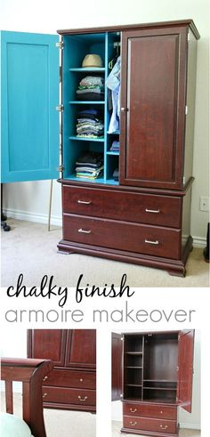 How to paint an armoire with DecoArt Americana Decor Chalky Finish paint. #ChalkyFinish #SecondChances