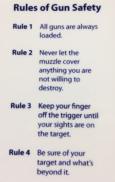 Core Rules of Gun Safety