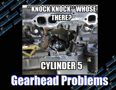 Bummer! If this happens to you, call us at BluePrint Engines today to speak to a Product Specialist. 800-843-4263 #blueprintengines #knockknock #gearheadproblems #crateengines #dynotested #warranty #calltoday