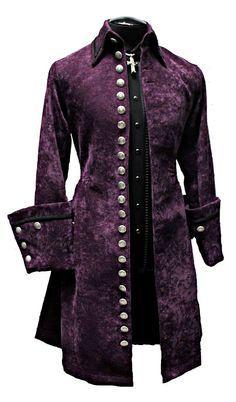 SHRINE GALLEON VELVET GOTHIC ARMY VICTORIAN PIRAT COAT JACKET GOTH STEAMPUNK XL  #SHRINE #Military