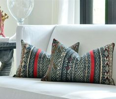 Pillows - Kravet Couture JETHRO pillow cover by woodyliana I Etsy - navy, blue, pillow, linen,