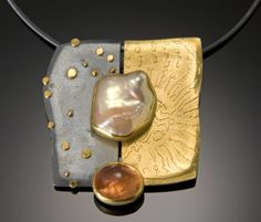 Keshi Pearl & Topaz Pendant by Sydney Lynch - She is one of the best original modern jewelry makers.  I love her work.