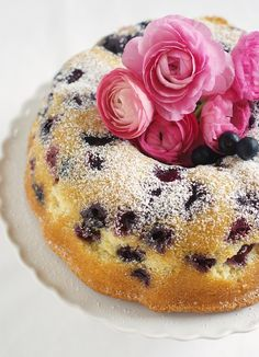 Blueberry Bundt Cake via @bakeat350 ~ Perfect idea for Easter or Mother's Day