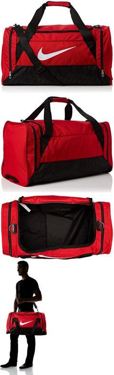 Bags and Backpacks 163537: Nike Brasilia 6 Medium Duffle Bag, Ba4829 601 Gym Red Black -> BUY IT NOW ONLY: $47.95 on eBay!