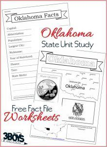 Oklahoma Geography  Geography Worksheets And Social Studies