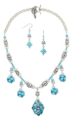 Single-Strand Necklace and Earring Set with SWAROVSKI ELEMENTS - Fire Mountain Gems and Beads