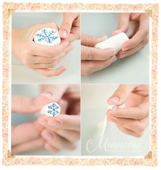 Snowflake Cane Tutorial on Kolika's blog