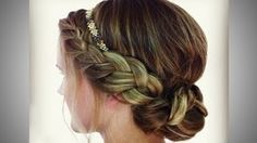 Braided Headband Updo - YouTube