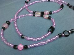 Beaded Lanyard Pretty in Pink by 2cando on Etsy, $10.99