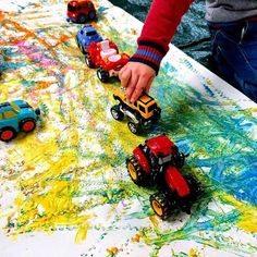 Shaving Foam Painting Tuff Tray Learning and Exploring Through Play: Shaving Foam Painting Tuff Tray Transportation Activities, Art Activities For Toddlers, Eyfs Activities, Infant Activities, Tuff Tray Ideas Toddlers, Toddler Painting Activities, Water Play Activities, Preschool Games, Foam Paint
