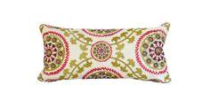 Kravet Medallion Embroidered Decorative Pillow Cover - Lumbar Pillow - Throw…